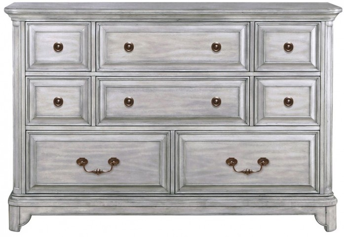 Windsor Lane Weathered Grey Wood Drawer Dresser