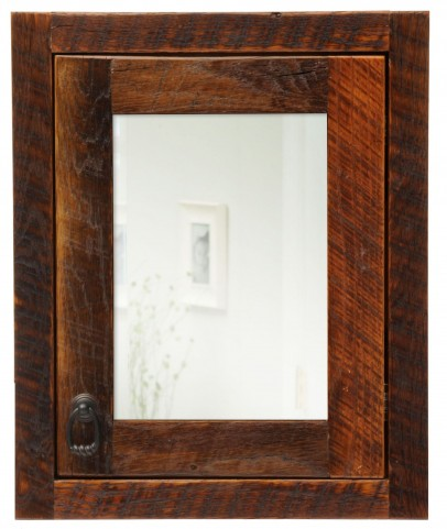 Barnwood Right Hinged Large Medicine Cabinet