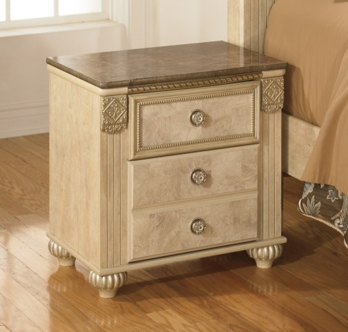 Saveaha Two Drawer Nightstand