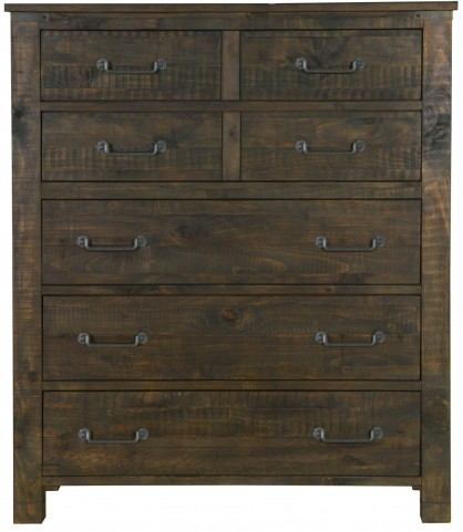 Pine Hill Rustic Pine Wood Drawer Chest