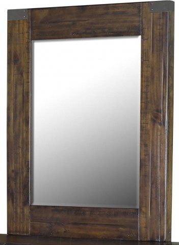 Pine Hill Rustic Pine Wood Portrait Mirror