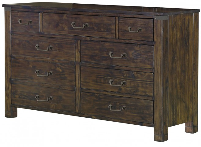 Pine Hill Rustic Pine Wood Drawer Dresser