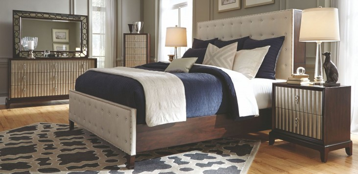 Gramercy Sable Panel Upholstered Bedroom Set