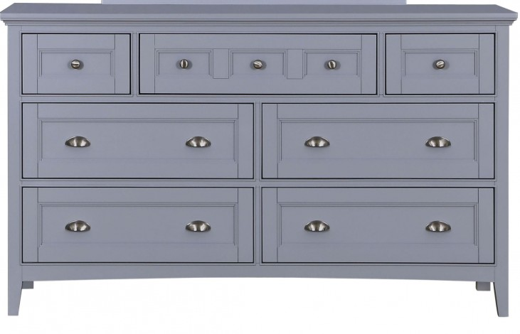 Graylyn Steel Drum Wood Double Dresser