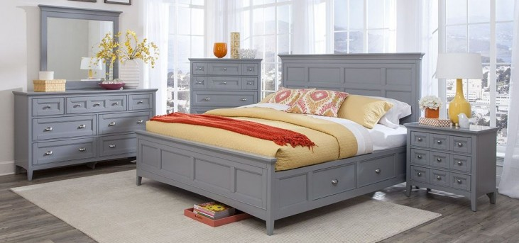 Graylyn Steel Drum Panel Storage Bedroom Set