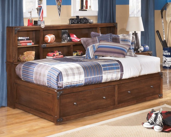 Delburne Twin Bookcase Storage Bed