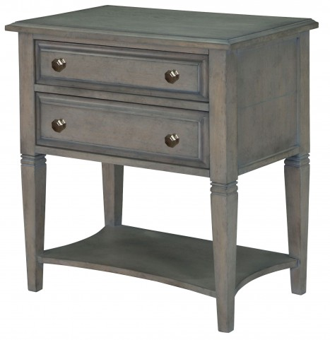 Hancock Park Weathered Oak Leg Nightstand