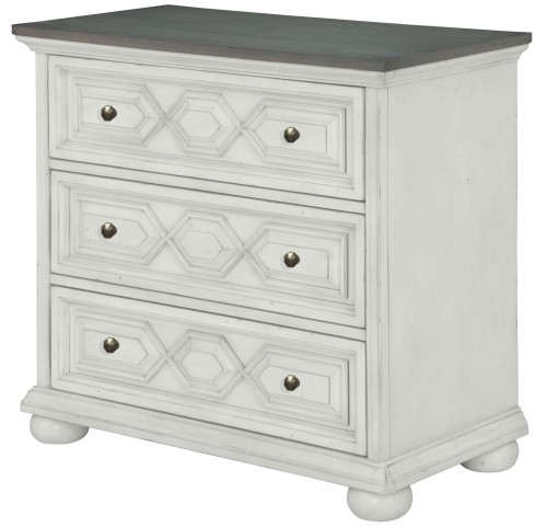 Hancock Park Vintage White Bachelor Chest