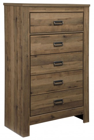 Cinrey Medium Brown Five Drawer Chest