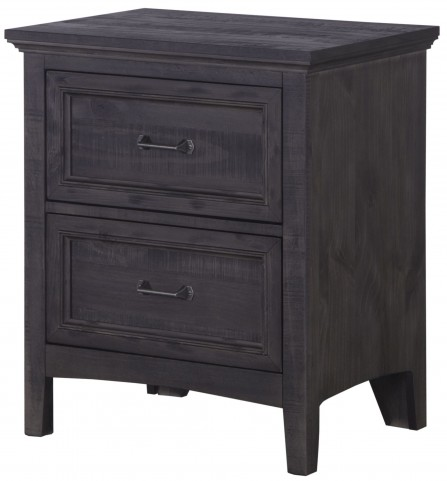 Mill River Weathered Charcoal Drawer Nightstand