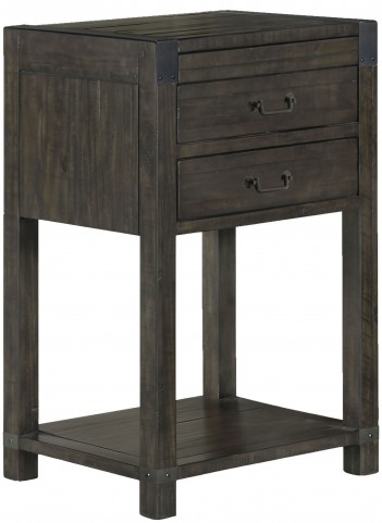Abington Weathered Charcoal Open Nightstand