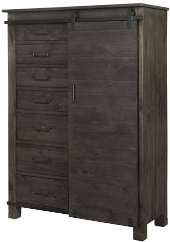 Abington Weathered Charcoal Door Chest