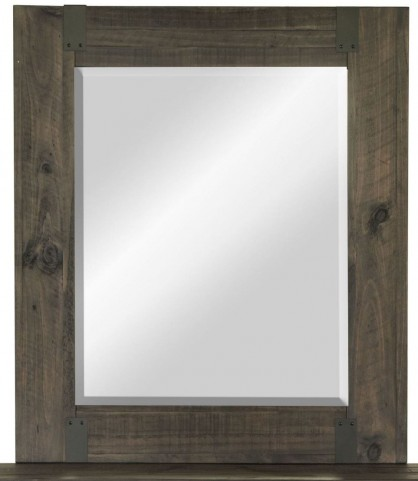 Abington Weathered Charcoal Portrait Mirror