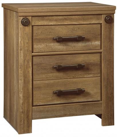 Ladimier Golden Brown 2 Drawer Nightstand