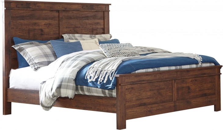 Hammerstead Brown Queen Panel Bed