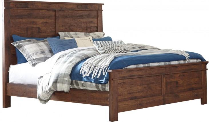 Hammerstead Brown King Panel Bed
