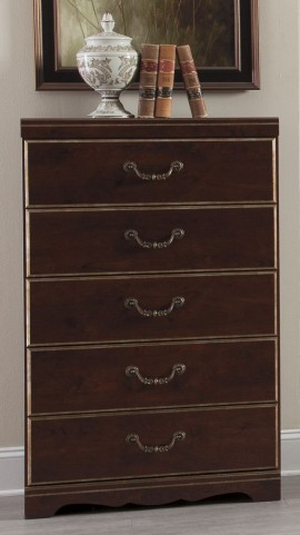 Chanlyn Reddish Brown 5 Drawer Chest