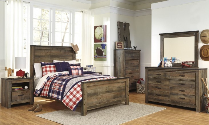 Trinell Brown Panel Bedroom Set