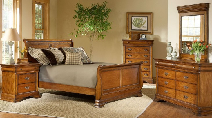 Shenandoah American Oak Youth Sleigh Bedroom Set
