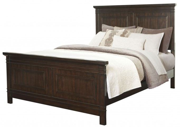 Timbol Warm Brown Cal. King Panel Bed
