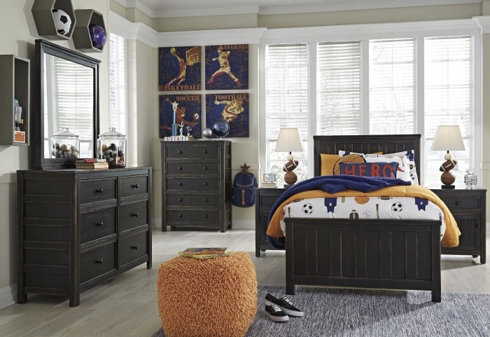 Jaysom Black Youth Panel Bedroom Set