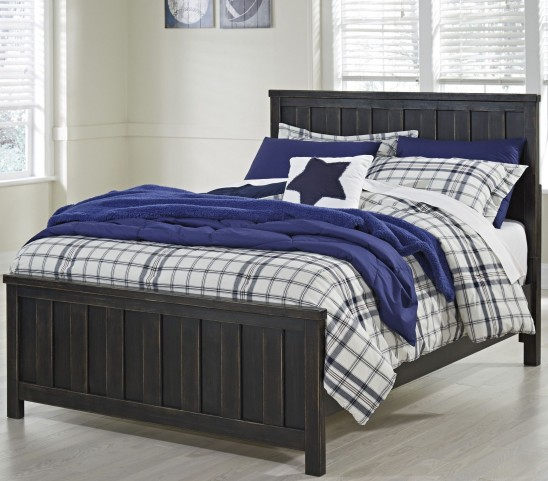 Jaysom Black Full Panel Bed