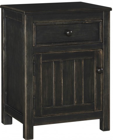 Jaysom Black Night Stand