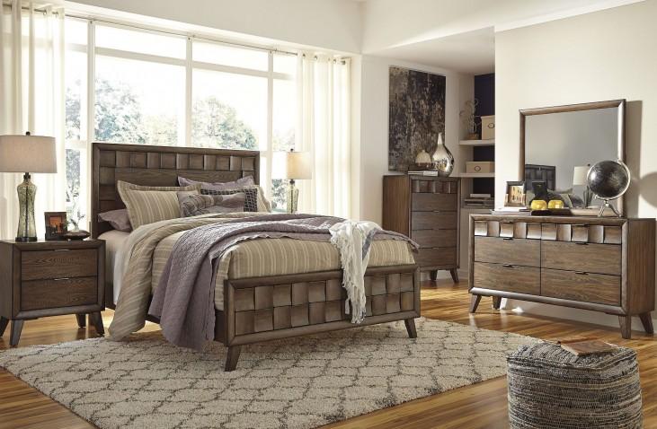 Debeaux Medium Brown Bedroom Set