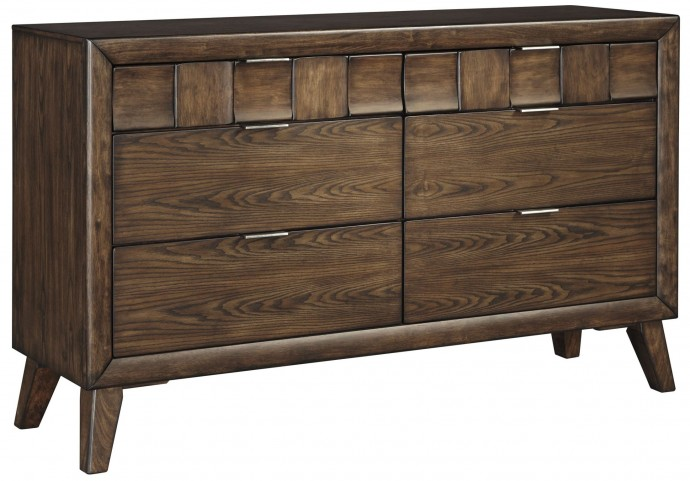 Debeaux Medium Brown 6 Drawer Dresser