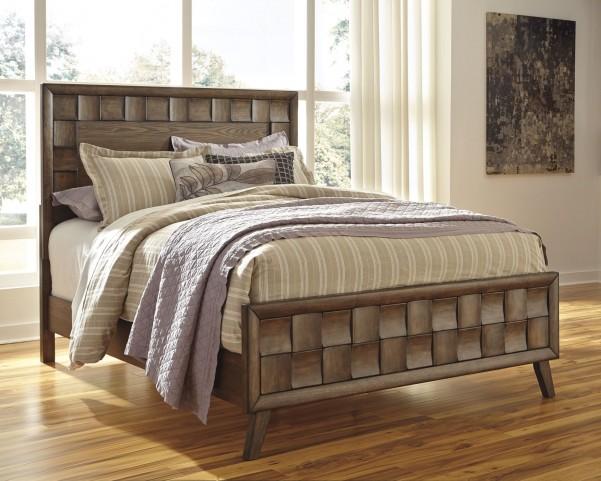 Debeaux Medium Brown King Panel Bed