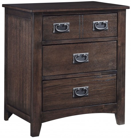 Strenton Brown 3 Drawer Nightstand