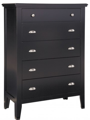 Braflin Black Five Drawer Chest