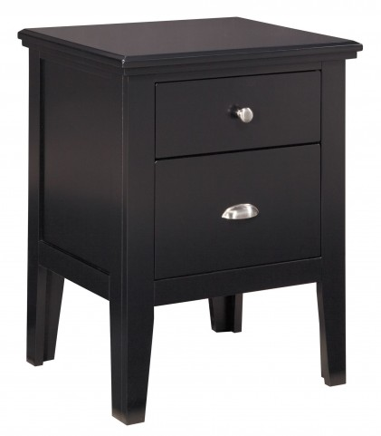 Braflin Black Two Drawer Nightstand