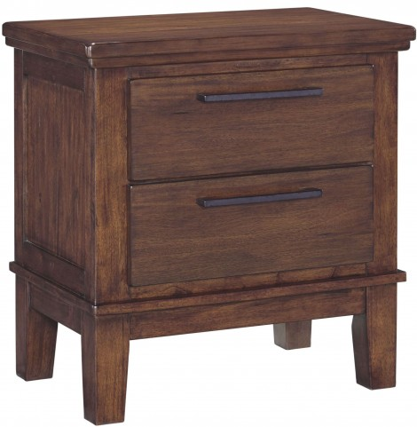 Ralene Medium Brown 2 Drawer Night Stand