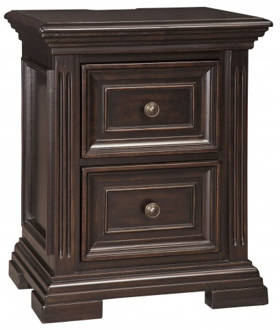 Willenburg Dark Brown 2 Drawer Nightstand