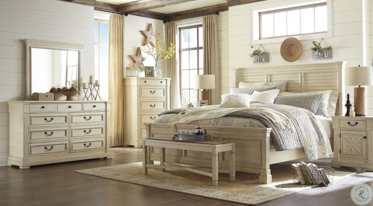 Bolanburg White Louvered Panel Bedroom Set