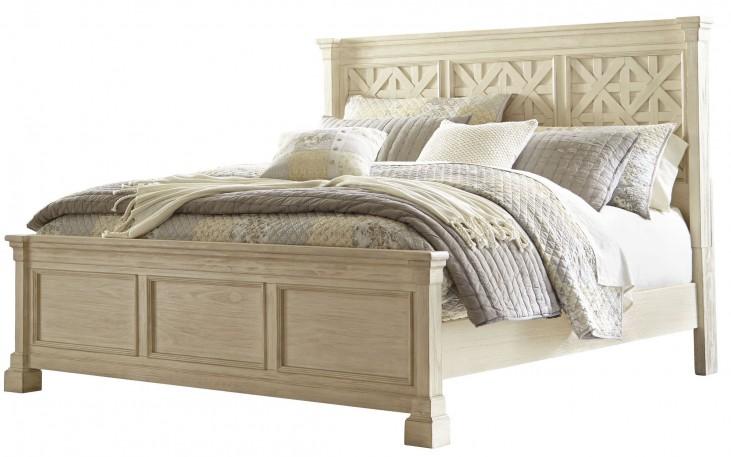 Bolanburg White Cal. King Louvered Panel Bed