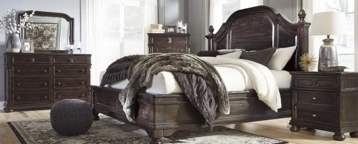 Gerlane Dark Brown Platform Bedroom Set