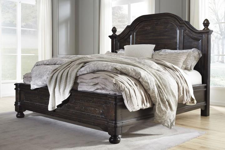 Gerlane Dark Brown Queen Platform Bed