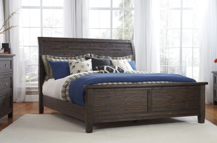 Trudell Dark Brown Queen Panel Bed