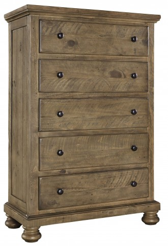 Trishley Light Brown 5 Drawer Chest