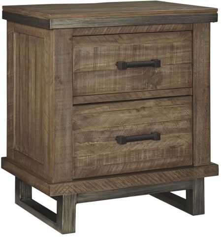 Dondie Warm Brown 2 Drawer Nightstand