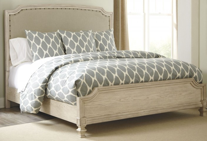 Demarlos King Upholstered Panel Bed