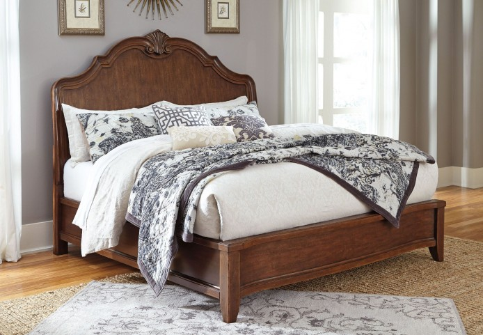 Balinder Medium Brown Cal. King Sleigh Bed