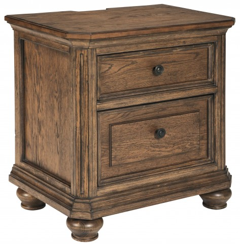 Maeleen Medium Brown Two Drawer Nightstand