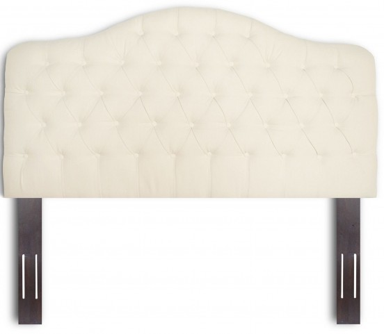 Martinique Walnut and Ivory Full/Queen Headboard
