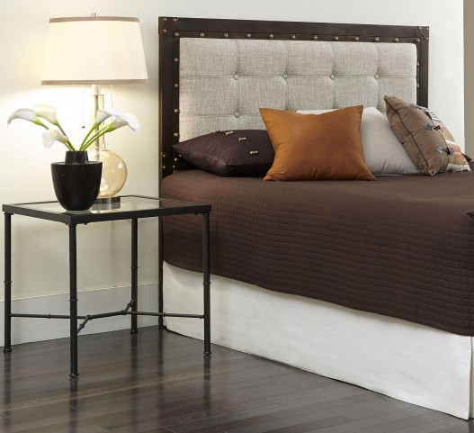 Gotham Brushed Copper and Latte Queen Headboard