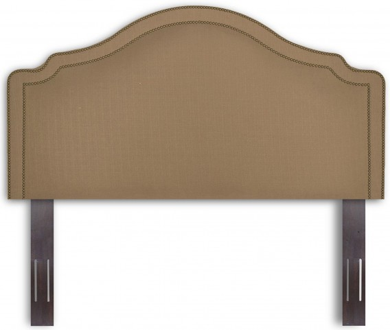 Versailles Walnut and Brown Sugar King/Cal. King Headboard & Frame