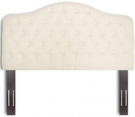 Martinique Walnut and Ivory Full/Queen Headboard & Frame