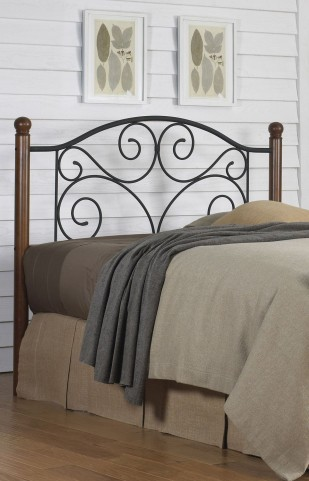Doral Matte Black Twin Headboard